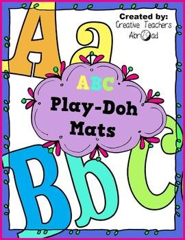 ABC Play-Doh Mats