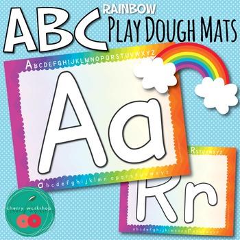 Play Dough Mats Letters