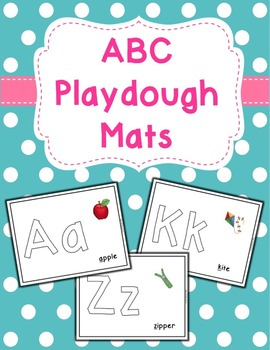 ABC Play Dough Mats - Set of 26