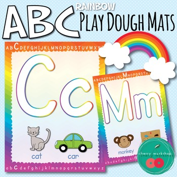 Play Dough Mats Letters