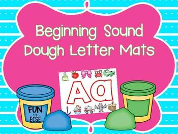 Beginning Sound Dough Letter Mats