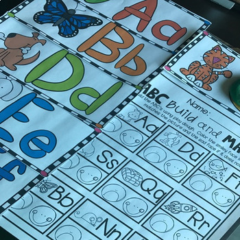 ABC Playdough Mats and Recording Sheets (Uppercase and Lowercase)