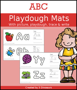 ABC Playdough Mats with Pictures