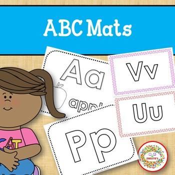 ABC Playdough and Color Mats