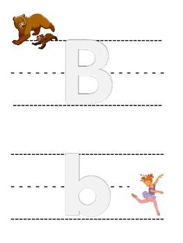 ABC Playdough/Tracing Mats (half-sheet)