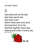 ABC Poems - one poem per letter