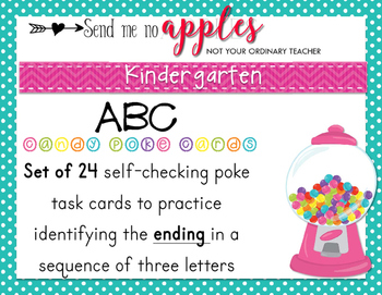 ABC Poke Cards {SET 1} - Identify the LAST missing letter