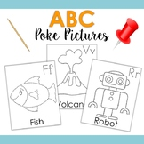 ABC Poke Pictures - Fun Fine Motor Art Activity