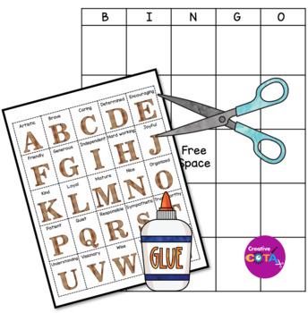 ABC Positive Character Traits Bingo