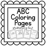 ABC Poster Coloring Pages