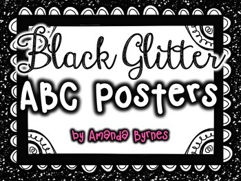 ABC Posters (Black Glitter Line)