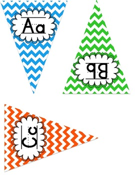 ABC Posters-Bunting and Chevron