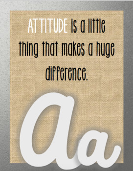 ABC Posters Character Inspirational cursive chic