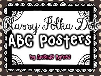 ABC Posters (Classy Polka Dot Line)