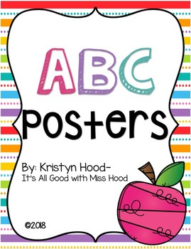 ABC Posters {Colorful Polka Dots}