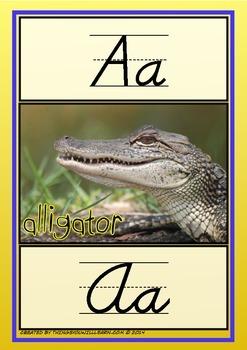 Alphabet Animal Posters (D' Nealian Style)