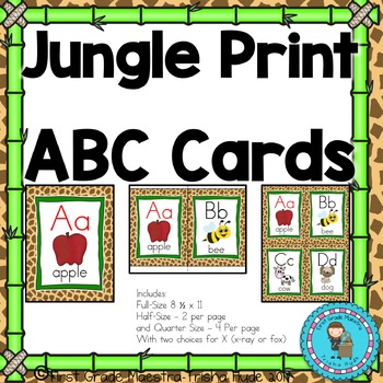 Jungle Print Theme ABC Posters