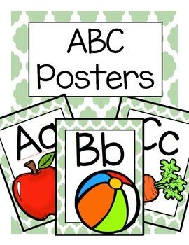 ABC Posters (Jade Quatrefoil)
