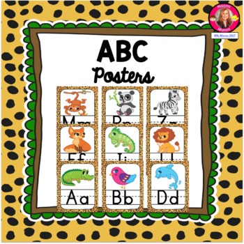 ABC Posters {Jungle-Safari Themed}