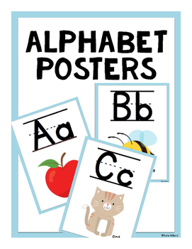 ABC Posters (Lined)-  Baby Blue