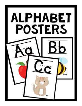 ABC Posters (Lined)-  Black