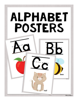 ABC Posters (Lined)-  Gray