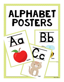 ABC Posters (Lined)-  Light Green
