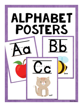 ABC Posters (Lined)-  Purple