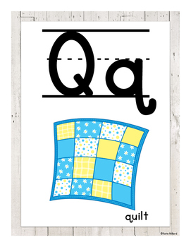 ABC Posters (Lined)-  White Wood