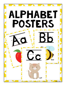 ABC Posters (Lined)-  Yellow