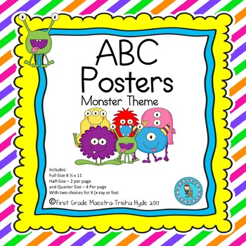 ABC Posters- Monster Theme