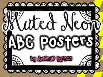 ABC Posters (Muted Neon Line)
