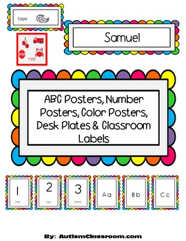 ABC Posters, Number Posters, Color Posters, Desk Plates & Classroom Labels