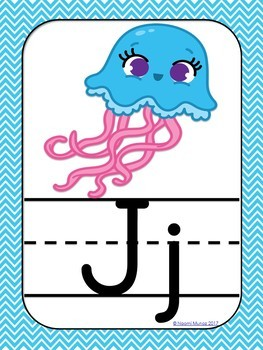 ABC Posters {Ocean Themed}