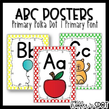 ABC Posters {Primary Colors}