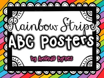ABC Posters (Rainbow Stripe Line)