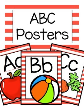 ABC Posters (Red Stripes)