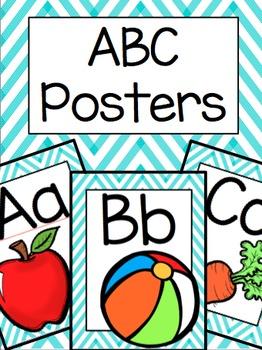 ABC Posters (Teal Chevron)