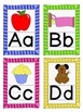ABC Posters and Flashcards - Bright Stripes