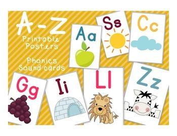 ABC Posters for Phonics or Classroom Setup