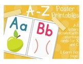 ABC Posters for Phonics or Classroom Setup