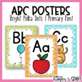 ABC Posters with Pictures {Bright Polka Dots}