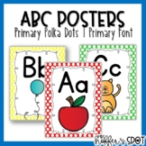 ABC Posters with Pictures {Primary Colors}