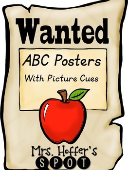 ABC Posters with Pictures {Western and Fancy Font 2.0}