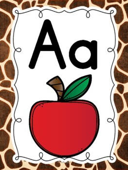ABC Posters with Pictures {Wild Animal}