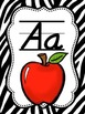 ABC Posters with Pictures {Zebra Print and Fancy Font}