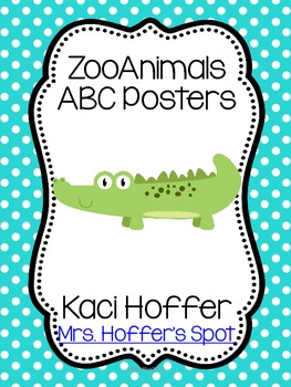 ABC Posters with Zoo Animals {Little Bright Polka Dots)