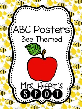 ABC Posters{Bee Themed}