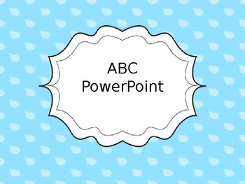 ABC PowerPoint Letter Activity