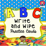ABC Write and Wipe Practice Cards for Kindergarten